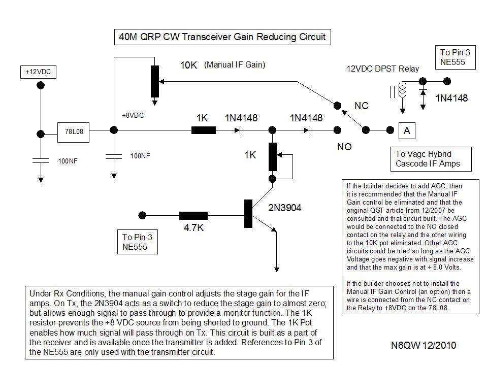 40M QRP Schematics & Parts List