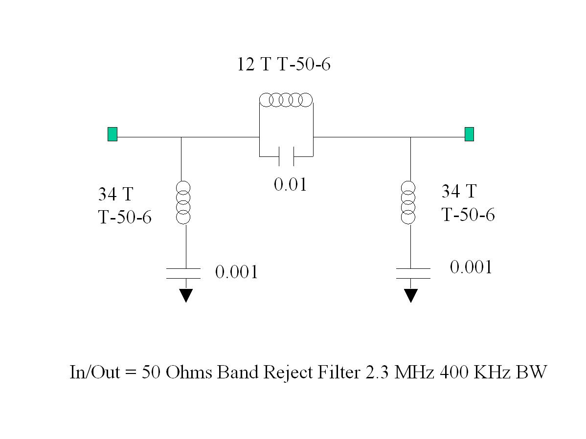 Qrp Ssb Transceivers 17m And 40m Band Reject Filter Circuit